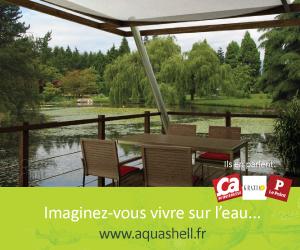 maison sur l'eau Aquashell